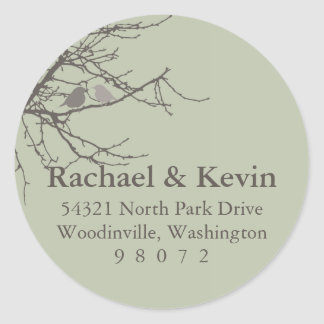 Sitting in a Tree Round Address Label