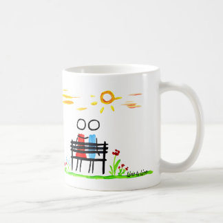 Sitting in the sunrise coffee mug