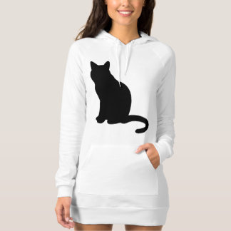 Sitting kitty sweater dress for cat lovers