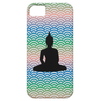 Sitting Meditation Buddha in sea of colorful wave iPhone 5 Cover