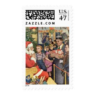Sitting on Santa's Lap Stamp