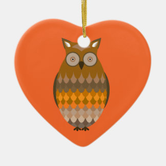 Sitting Owl Christmas Ornament