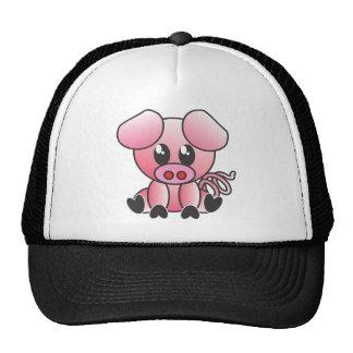 Sitting Piggy Mesh Hats