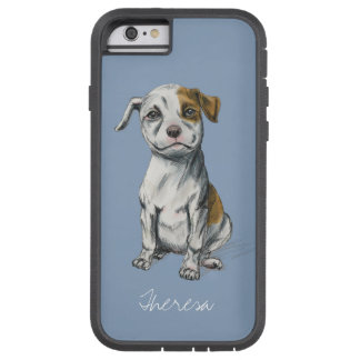 Sitting Pit Bull Puppy Drawing Tough Xtreme iPhone 6 Case