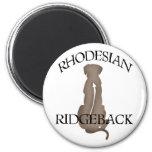 Sitting Rhodesian Ridgeback w/ Text