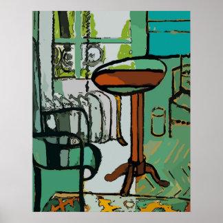 Sitting Room After Matisse Poster
