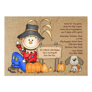 Sitting Scarecrow Invitation
