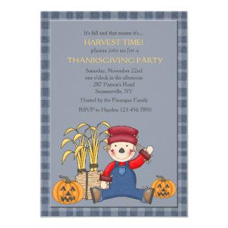 Sitting Scarecrow Invitation