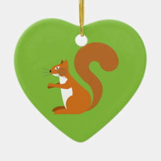 Sitting Squirrel Christmas Ornament
