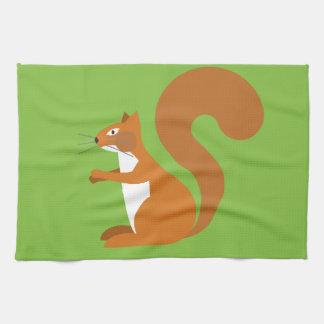Sitting Squirrel Tea Towel