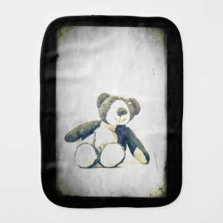 sitting teddy bear... burp cloth
