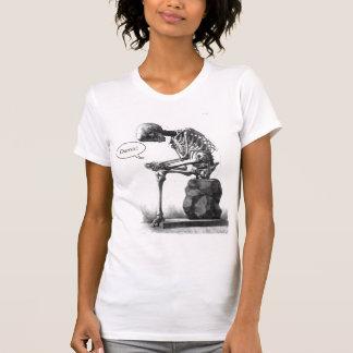 Sitting vintage skeleton thinking shirt