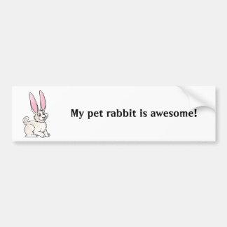 Sitting White Rabbit Bumper Sticker