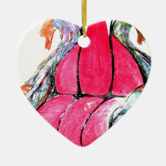 sitting with the fishes ceramic heart decoration
