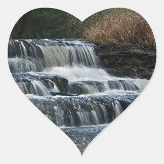 Siuslaw Falls, Lorane, Oregon Heart Sticker