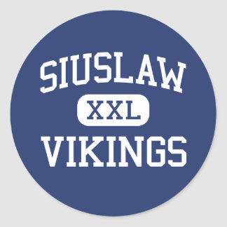 Siuslaw - Vikings - High School - Florence Oregon Classic Round Sticker
