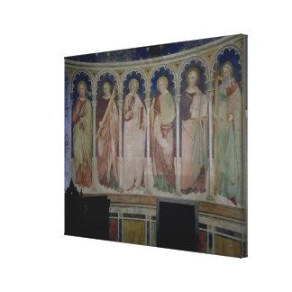 Six Apostles, c.1390 (fresco) Canvas Print