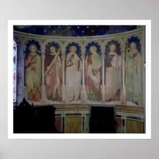 Six Apostles c 1390 fresco Posters