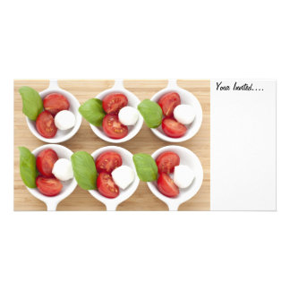 Six Caprese Appetizers, Your Invited.... Personalized Photo Card