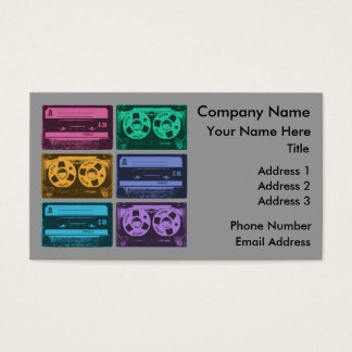 Six Cassette Tapes Business Card