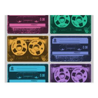 Six Cassette Tapes Postcard