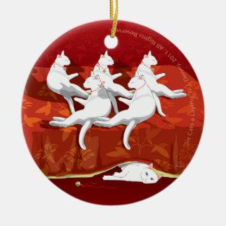 Six Cats a-Laying... Christmas Tree Christmas Ornament