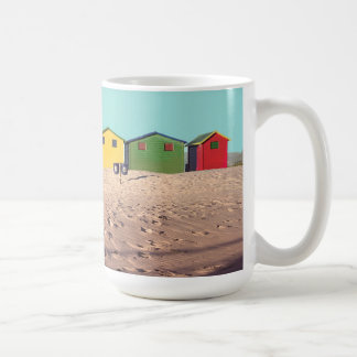 Six Colorful Beach Hut | Cape Town, South Africa Coffee Mug