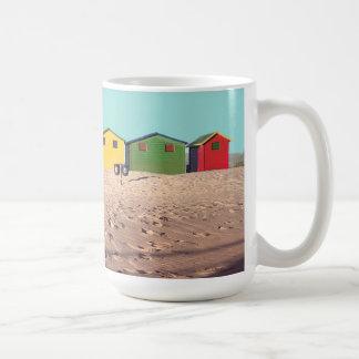 Six Colorful Beach Hut | Cape Town, South Africa Coffee Mug