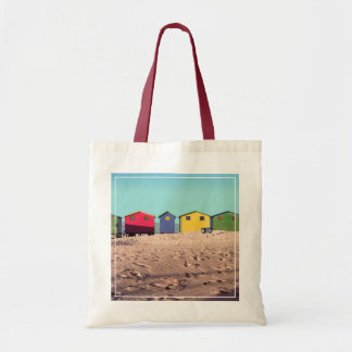 Six Colorful Beach Hut | Cape Town, South Africa Tote Bag