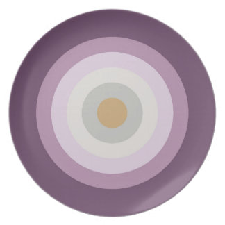 Six Colors - Blue Violet Purple Pink Gray Yellow Plate