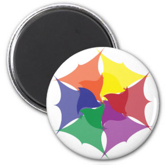 six colors puckered, six colors twist magnet