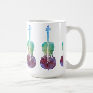 Six Colorwashed Cellos Coffee Mug