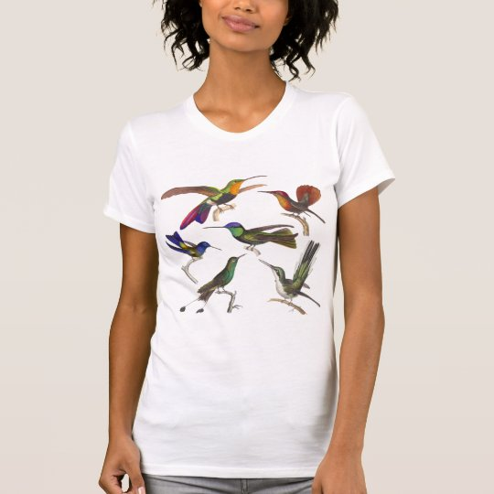 Six Colourful Hummingbirds - Front and Back T-Shirt