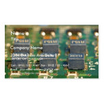 Six Computers Chips Circuits Business Card Template