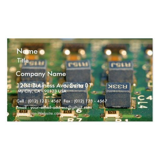 Six Computers Chips Circuits Business Card