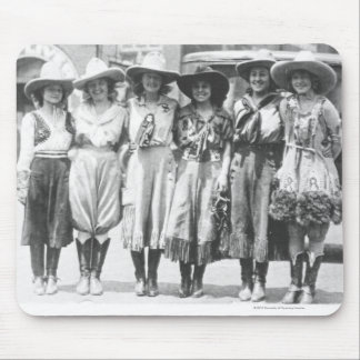 Six cowgirls at Cheyenne Frontier Days. Mouse Mat