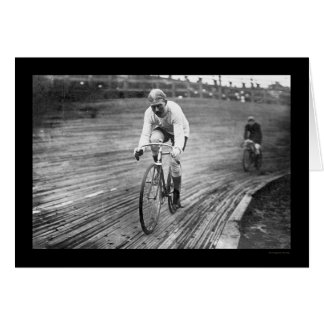 Six Day Bicycle Race 1909 Greeting Card