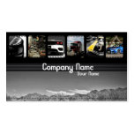 Six Different Cars in  Mountain Landscape Business Card Templates