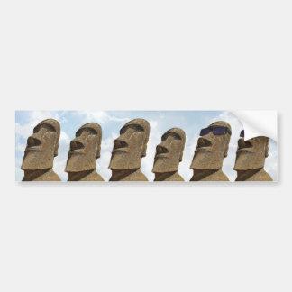 Six Easter Island Moai - Bumper Sticker