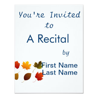 six fall colour leaves nature image graphic.png 11 cm x 14 cm invitation card