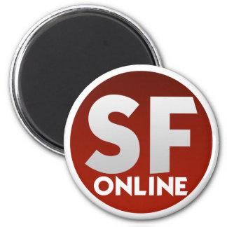 Six Flags Online Megnet 6 Cm Round Magnet