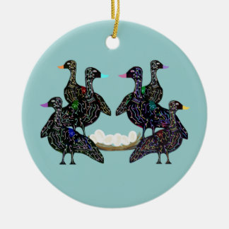 Six Geese A Laying Ornament