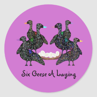 Six Geese A Laying Stickers