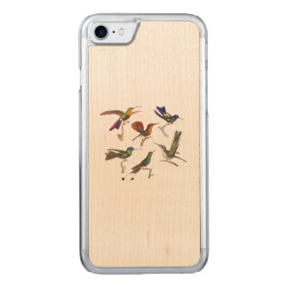 Six Hummingbirds Carved iPhone 8/7 Case