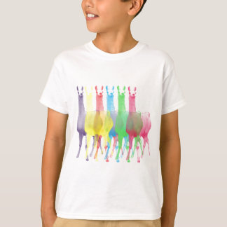 six lamas in six llama colors T-Shirt