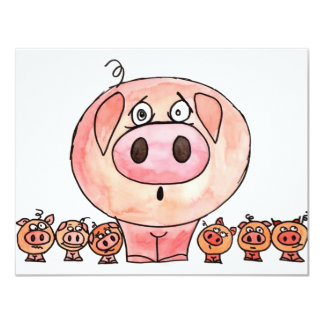 Six Little Pigs Card