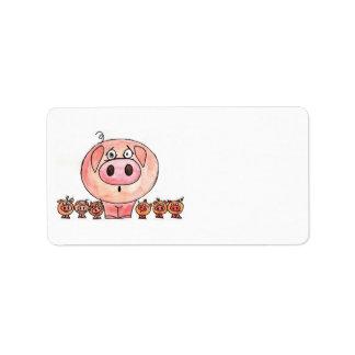 Six Little Pigs Label