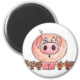 Six Little Pigs Refrigerator Magnet