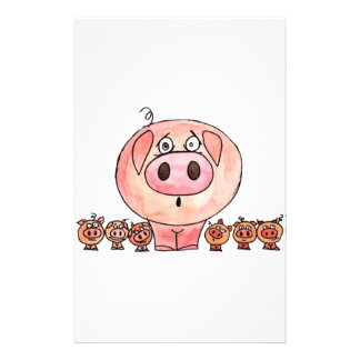 Six Little Pigs Stationery