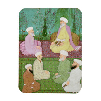 Six Muslim holy men seated on a garden terrace, fr Rectangular Photo Magnet